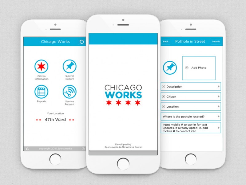 Chicago Works 311 – Report Potholes, Graffiti and other Non-Emergency Issues to your City