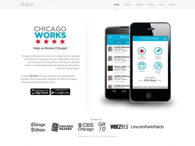 Chicago Works 311 Website