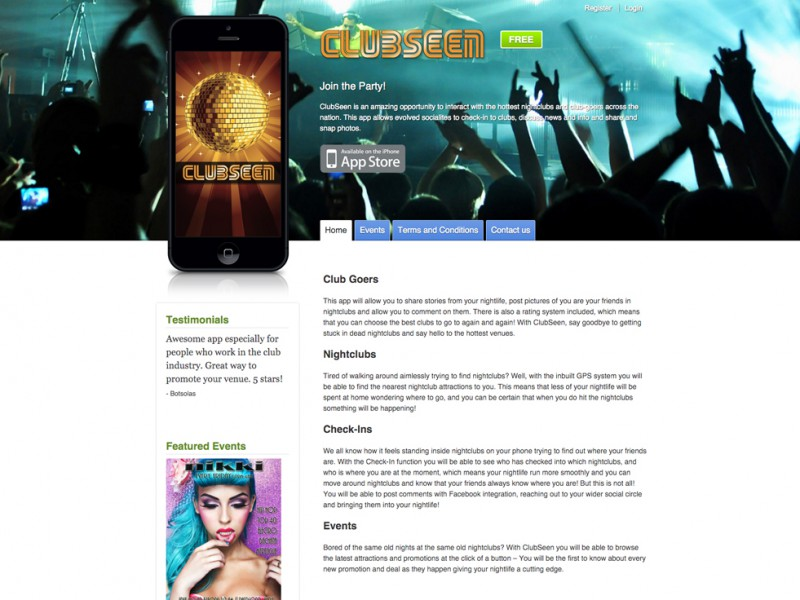 ClubSeen Website