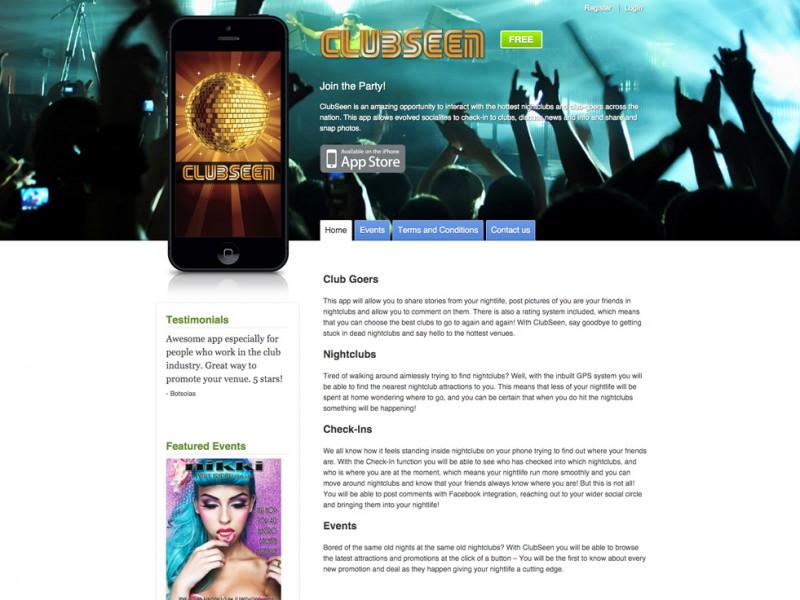 ClubSeen Website