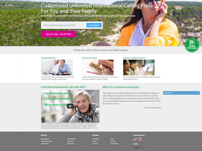 NECC Telecom Website