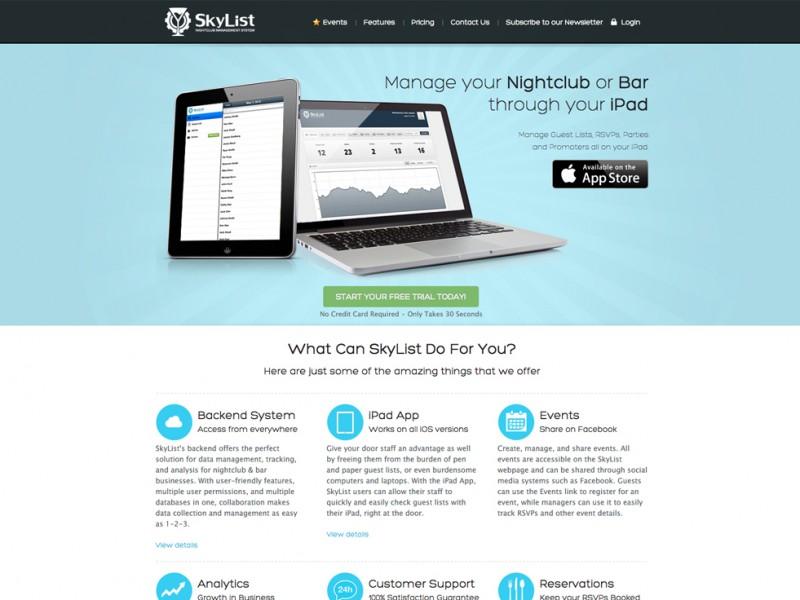 SkyList App Website