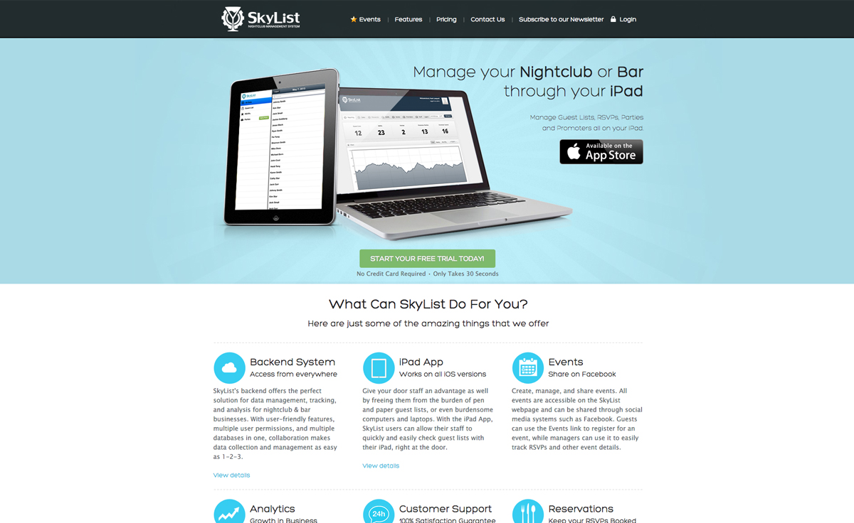 Web Application Home Page Design Homemade Ftempo
